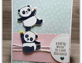 Sweet Little Panda Card using Party Pandas by Leonie Schroder Independent Stampin' Up! Demonstrator Australia