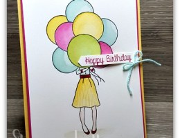Hand Delivered Birthday by Leonie Schroder Independent Stampin' Up! Demonstrator Australia