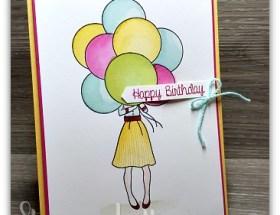 Hand Delivered Birthday by Leonie Schroder Independent Stampin' Up! Demonstrator Australia