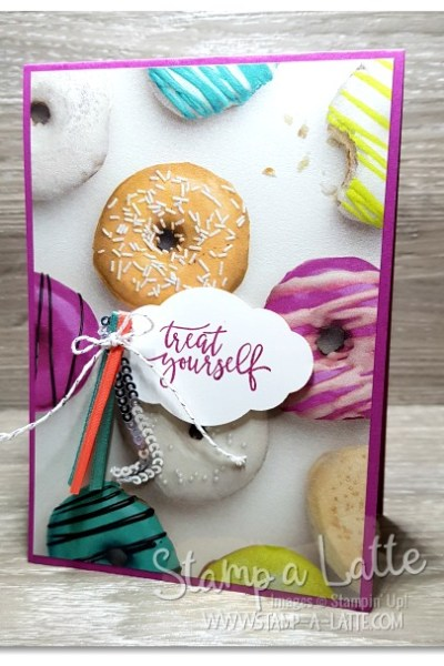 Picture Perfect Party Treat Card by Leonie Schroder Independent Stampin' Up! Demonstrator Australia