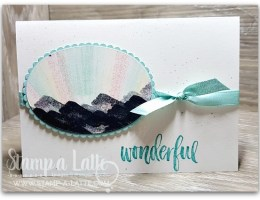 Waterfront Northern Lights with Masking Tape by Leonie Schroder Independent Stampin' Up! Demonstrator Australia