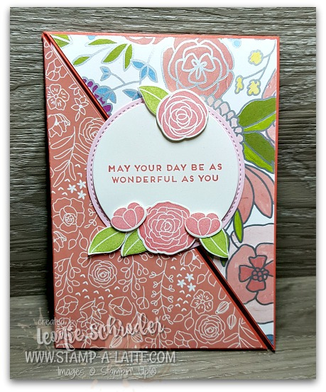 Sweet Sioree Corner Flip Card by Leonie Schroder Independent Stampin' Up! Demonstrator Australia