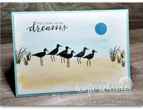 Hight Tide Watercolour Wash by Leonie Schroder Independent Stampin' Up! Demonstrator Australia #HighTide #WaterColor #Wash
