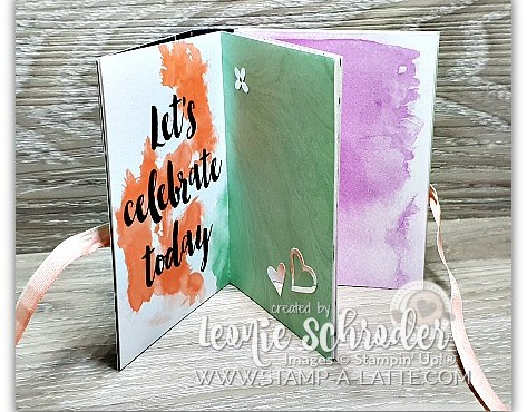 Concerrtina Card/Mini Album using Delightfully Detailed Memories and More Card Pack by Leonie Schroder Independent Stampin' Up! Demonstrator Australia