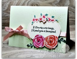 If Flowers were Hugs by Leonie Schroder Independent Stampin' Up! Demonstrator Australia