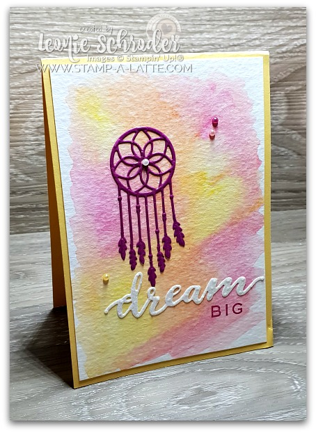 Follow your Dreams Watercolour Pencil Wash by Leonie Schroder Independent Stampin' Up! Demonstrator Australia