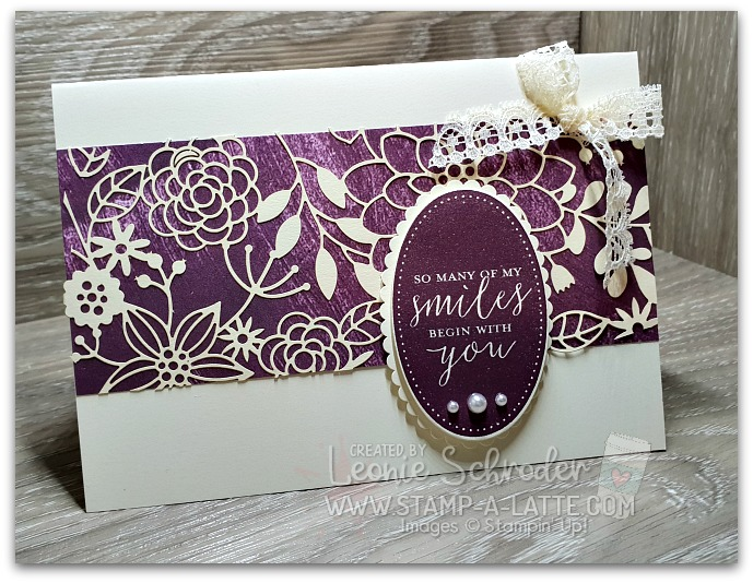 Delicate Details with Blackberry Bliss by Leonie Schroder Independent Stampin' Up! Demonstrator Australia