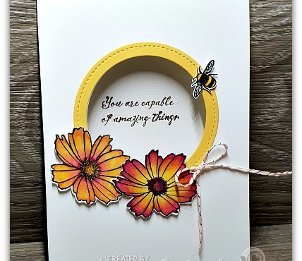 Window Card using Better with You by Leonie Schroder Independent Stampin' Up! Demonstrator Australia