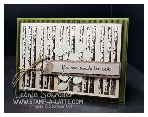 Winter Birch by Leonie Schroder Independent Stampin' Up! Demonstrator Australia