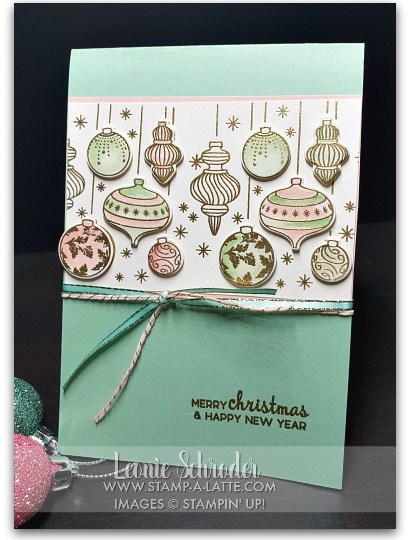 Embossed Baubles by Leonie Schroder Independent Stampin' Up! Demonstrator Australia