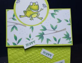 Hoppy Hoppy Birthday by Leonie Schroder Independent Stampin' Up! Demonstrator Australia