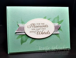 Lasting Leaves using Lasting Lily by Leonie Schroder Independent Stampin' Up Demonstrator Australia