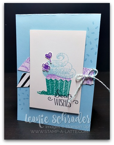 Sweet Wishes using Hello Cupcake by Leonie Schroder Independent Stampin' Up! Demonstrator Australia