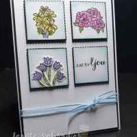 Tiled Flowers using Vibrant Vases by Leonie Schroder Independent Stampin' Up! Demonstrator Australia