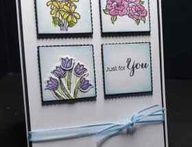Tiled Flowers using Vibrant Vases by Leonie Schroder Independent Stampin' Up! Demonstrator Australia