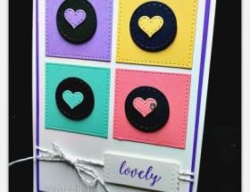 Lovely Hearts using Stitched All Around Bundle by Leonie Schroder Independent Stampin' Up! Demonstrator Australia #stampalatte #stampinup #stitchedallaround #love