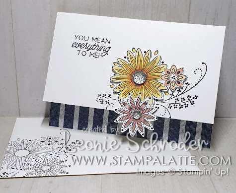 Daisy Lace using A Little Lace Stamp Set by Leonie Schroder Independent Stampin' Up! Demonstrator Australia