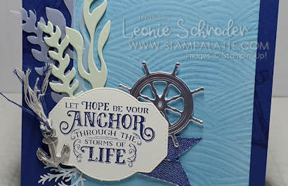 AAnchor of Hope card using Sail Away Suite by Leonie Schroder Independent Stampin' Up! Demonstrator Australia