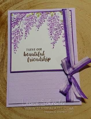 Wisteria Friendship using Soft Spring Hostess Set by Leonie Schroder Independent Stampin' Up! Demonstrator Australia