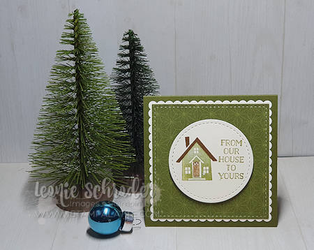 Brightly Gleaming House Card from my Christmas Box by Leonie Schroder Independent Stampin' Up! Demonstrator Australia