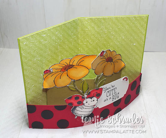 Little Ladybug Bendy Pop Card by Leonie Schroder Independent Stampin' Up! Demonstrator Australia