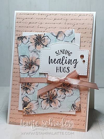 Sending Healing Hugs using So Sentimental Bundle and Parisian Blossoms Specialty Designer Series Paper. Created by Leonie Schroder Independent Stampin' Up! Demonstrator Australia