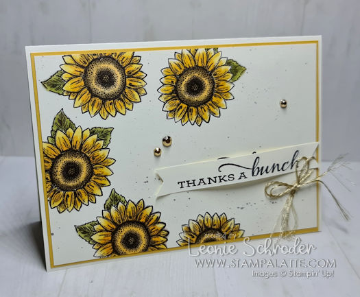 Thanks a Bunch using Celebration Sunflowers by Leonie Schroder Independent Stampin' Up! Demonstrator Australia