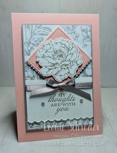 Peony Thoughts card using the products from the Peony Garden Suite by Leonie Schroder Independent Stampin' Up! Demonstrator Australia