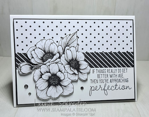 Black n White Perfection card by Leonie Schroder Independent Stampin' Up! Demonstrator