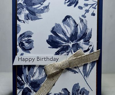 Navy Florals by Leonie Schroder Independent Stampin' Up! Demonstrator Australia