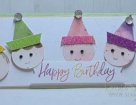 Sweet Party Hats using Ice Cream Corner Suite by Leonie Schroder Independent Stampin' Up! Demonstrator Australia