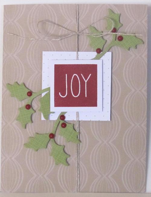 Holly Card Paper Pumpkin