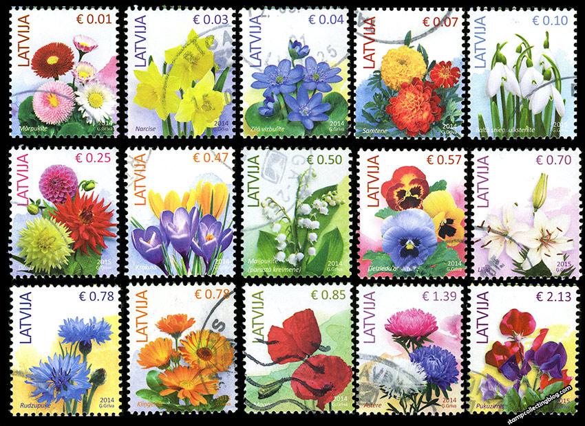 latvian definitive postage stamps