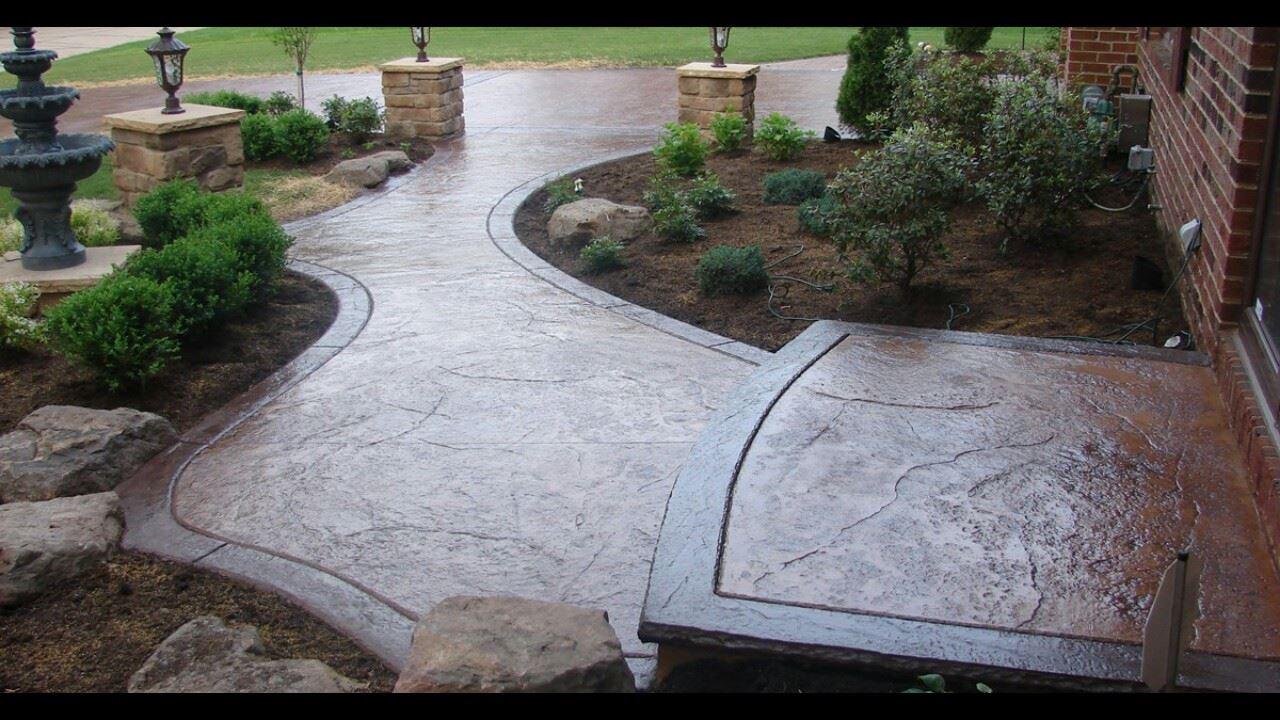 Decorative Curb and Concrete