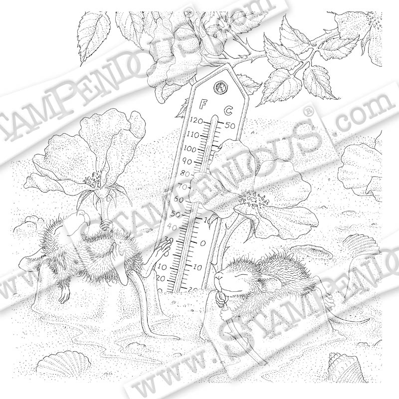 Staying Cool Rubber Stamp