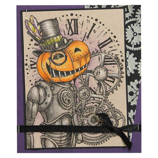 Pumpkin Rubber Stamp