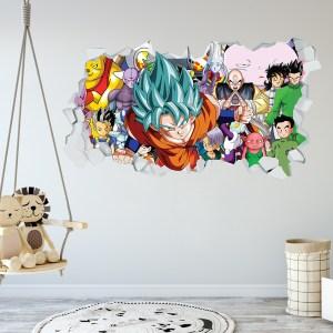 Adesivo Murale 3D ~ Dragon Ball