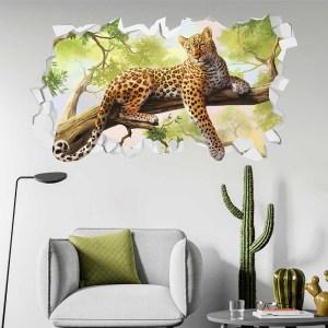 Adesivo Murale 3D ~ Leopardo