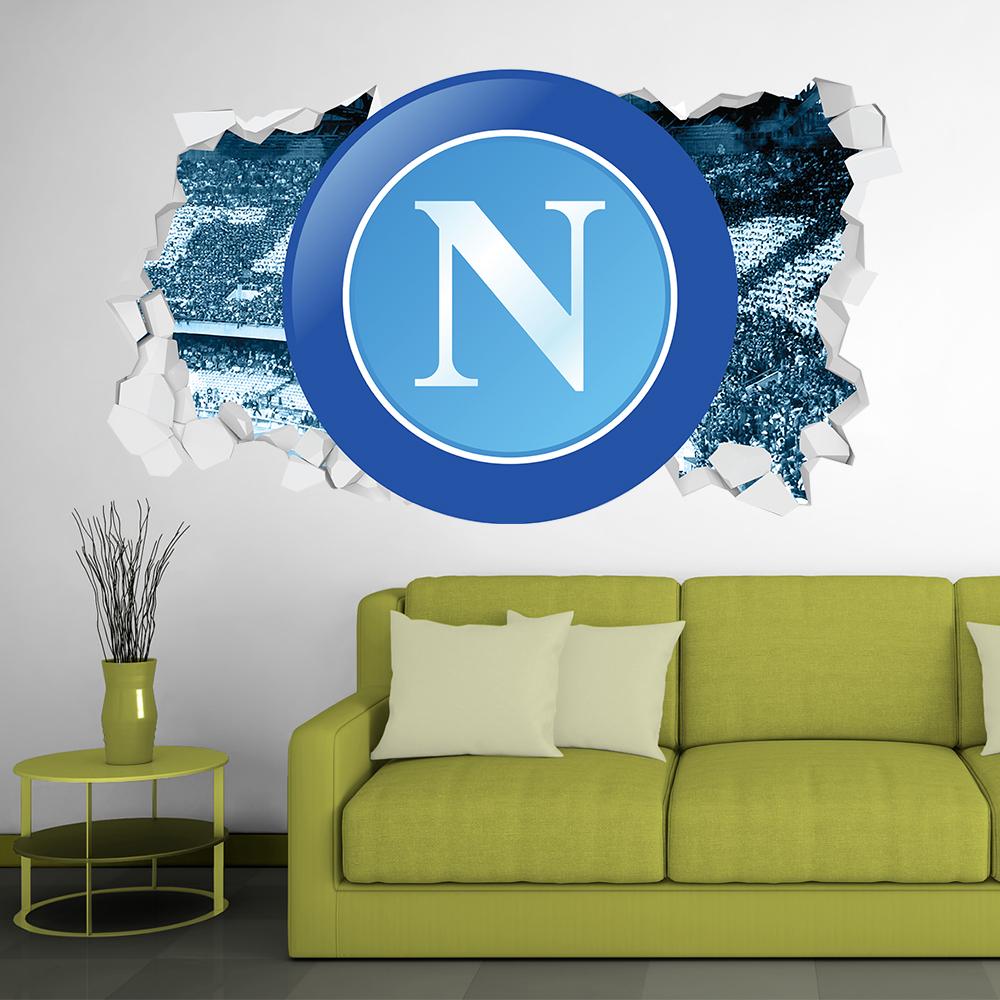 Adesivo Murale 3D Scudetto Napoli