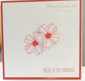 Stampin Up! card Flower Shop Your in my Thoughts