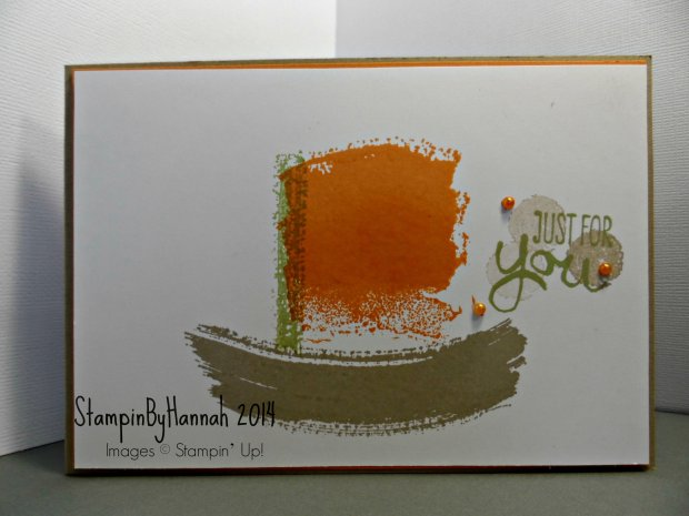 Stampin up work of art boat