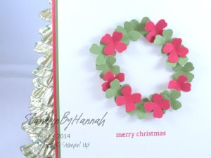 Stampin' Up! UK DIY Wreath christmas punch