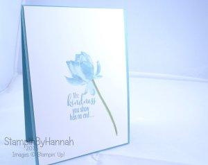 Stampin' Up! UK Sale-a-bration SAB lotus blossom