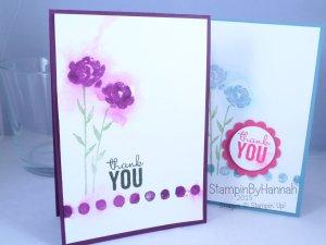 Stampin' Up! UK Pootles blog hop painted petals watercolour video tutorial