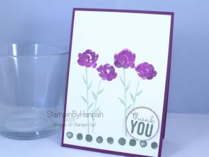 Stampin' Up! UK painted petals watercolour blackberry bliss