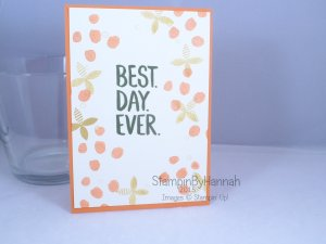 Stampin' Up! UK Sale-a-bration SAB Best Day Ever Best Year Ever