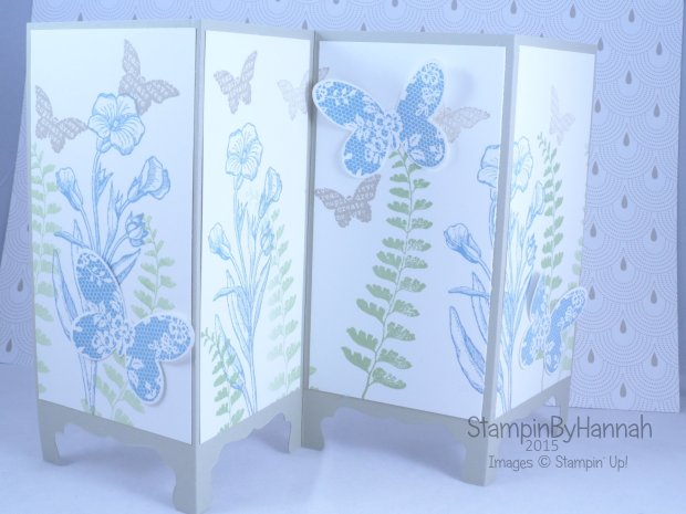 Stampin' Up! UK screen divider card fancy fold butterfly basics