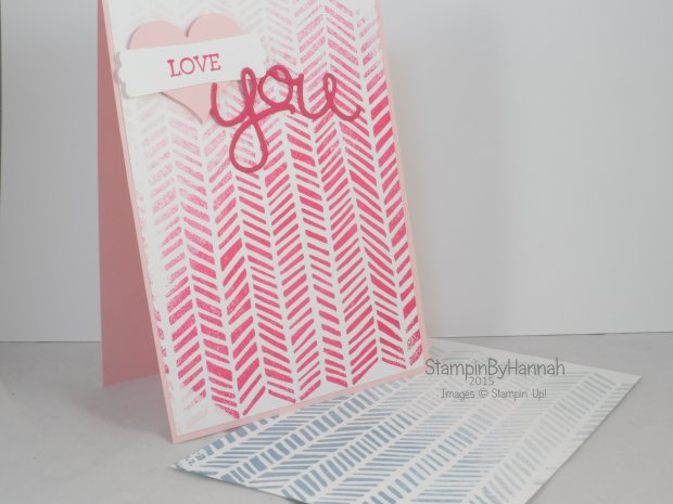 Stampin' Up! UK Ombre stamping video tutorial