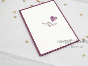 Stampin' Up! UK Wedding Invitations