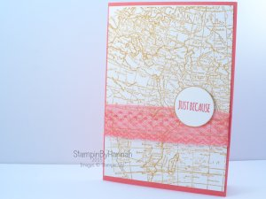 Stampin' Up! UK world map watermelon wonder
